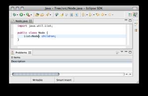 Eclipse JDT with empty problems view
